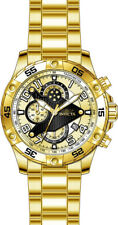Invicta Men's S1 Rally Chrono 100m Gold Plated S. Steel Gold Dial Watch 26098