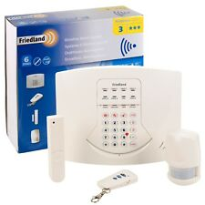 Friedland 6 Zone Wireless Burglar Alarm Home Security System PIR Motion Sensor