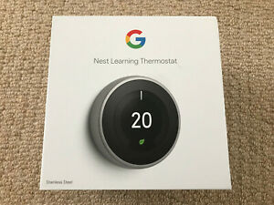 Nest Learning Thermostat 3rd Generation - Stainless Steel - USED - (Ref:188)