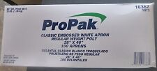 """Propak 16367 Classic Embossed White Apron 28"""" x 46"""" Regular Weight Poly"""