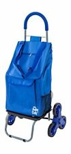 dbest products Stair Climber Trolley Dolly, Blue Shopping Grocery Foldable Cart