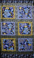 """Clothworks Blue Berry Skies 100% cotton 43"""" wide fabric by the panel 24"""""""