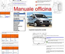 MANUALE OFFICINA Fiat DUCATO x 250 WORKSHOP SERVICE SOFTWARE ELEARN  PER windows