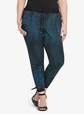 1fcdd75ca6570 Torrid Colorblock Teal Snake Print Jogger Stretch Pants 3 aka 22 24 3X   29859