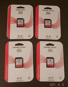 *Lot of Four* NEW Dane-Elec 8GB SDHC Memory Card UPC 660685051379