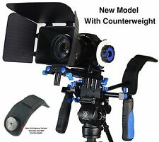New Morros DSLR Rig Movie Kit Shoulder Mount Rig with Follow Focus and Matte Box
