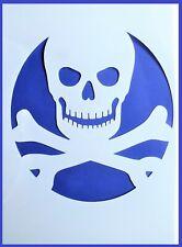 A4 Flexible Stencil *SKULL* Pirate Cross Bones Card Making 21cm x 29.5cm