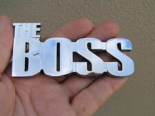 THE BOSS CAR BADGE suit FORD MUSTANG etc *New* Chrome Metal Emblem