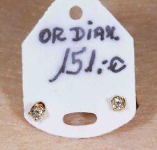 Boucles d'Oreilles en Or 750 / 18 Ct et Diamants