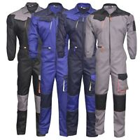 Men's Work Wear Overalls Boiler Suit Coveralls Mechanics Boilersuit