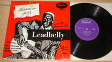 "LEADBELLY ~ CLASSICS IN JAZZ ~ UK CAPITOL 10"" LP 1953 EXCELLENT CONDITION"