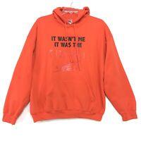 Fireball Sweatshirt Hoodie Mens Size XL Orange Pull Over Long Sleeve