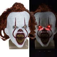 LED Pennywise Clown Mask Stephen King's It Chapter Two Masque Movie Cosplay Mask