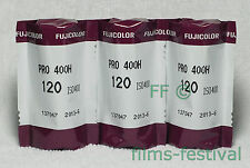 3 rolls Fujicolor Pro 400H 120 Color Print Film Medium Format