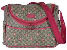 New Gucci 123326 Coated Canvas Floral Rose Gg Baby Diaper Bag Mum's Bag Purse