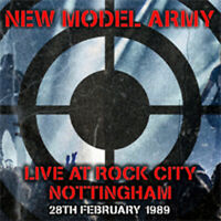 LIVE AT ROCK CITY NOTTINGHAM 1989  by NEW MODEL ARMY  Compact Disc Double  SJPCD