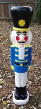 Union Products Christmas Nutcracker Plastic Blow Mold Soldier Lighted Tall 40