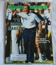 Sports Illustrated November 5, 1984 Notre Dame Coach Gerry Faust