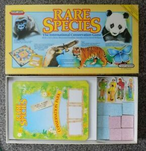 "1985 SPEARS GAMES "" RARE SPECIES,INTERNATIONAL CONSERVATION GAME "" ALL COMPLETE"
