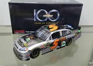 Autographed 2011 Mark Martin #5 GoDaddy Chevy 100th Anniv 1:24 Brushed Metal
