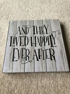 "Wall Art Decor ""and They Lived Happily Ever After New In Plastic"