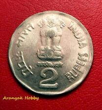 India Rupees 2 copper nickel 2003 scarce die doubling error coin