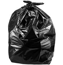 3pcs Roll Cart Trash Bags Durable Big Mouth Garbage Bags Yard Black 96 Gallon
