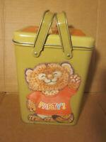 Shirt Tales Box Tin Container w/ Handles Kitten Party Hallmark 1980 Vintage Rare