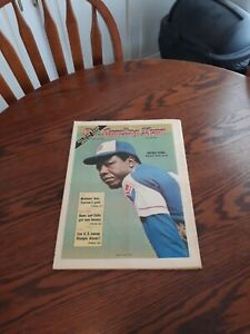 JULY 29,1972-THE SPORTING NEWS-HANK AARON OF THE ATLANTA BRAVES(MINT)