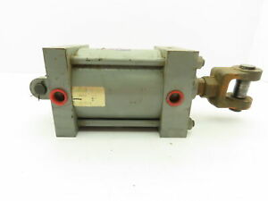 """Miller A84B2B Pneumatic Dbl Acting Air Cylinder 5"""" Bore 4"""" Stroke 250PSI Clevis"""