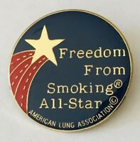 American Lung Association Freedom From Smoking Pin Badge Rare Vintage (A9)