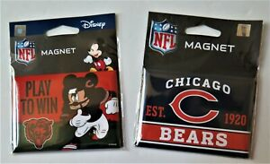 """TWO (2) CHICAGO BEARS, 2.5"""" X 3.5"""" METAL MAGNETS FROM WINCRAFT"""
