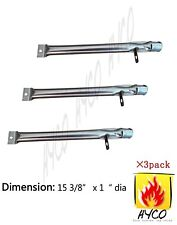 Stainless Steel Burner for Bbq Pro, Kenmore Sears, K-Mart Grills hyB623 3-pack