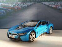 PERSONALISED BMW I8 - BLUE 5' DIECAST MODEL CAR PRESENT BIRTHDAY VALENTINES GIFT