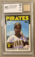 1986 Topps Traded #11T Barry Bonds Rookie RC BCCG 10 Mint With Bat Chip 💎RARE💎