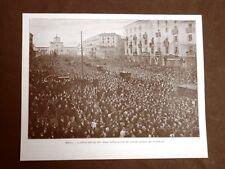 WW1 Prima guerra mondiale 1914-1918 Milano 1916 funerali bombe d'Austria Antibo