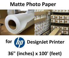 "Matte Fast-Dry Photographic Paper 36"" x 100' for HP DesignJet Aqueous Printers"