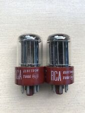 RCA 5692/6SN7 red base black plate, triple mica test NOS, DD getter