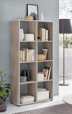 Wilmes: Raumteiler mit 8 Fächer - Bücherregal Standregal Regal - Eiche Sägerau