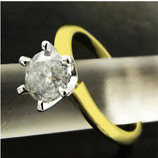 DIAMOND SOLITAIRE RING 1.10 ct GENUINE REAL 18 K SOLID YELLOW GOLD VALUED $6450