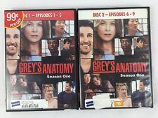 Grey's Anatomy Season One Episodes 1-9 Disc 1 & 2