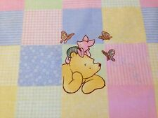 Cotton Fabric FQ - Winnie The Pooh And Friends Pastel Patches For Crafts Quilts