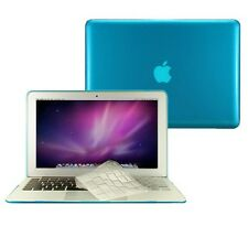 "3 in1 Crystal AQUA BLUE Case  for Macbook Air 11"" A1370 + Key Cover + LCD Screen"