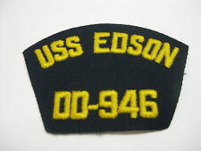 2 USS EDSON DD - 946 Sherman Destroyer Ship Boat Patch Patches USN US Navy