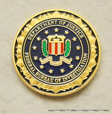 US FBI full color seal challenge coin  DOJ CIA DEA MARSHAL FEDERAL POLICE
