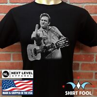 JOHNNY CASH GIVING THE FINGER ***SAN QUENTIN PRISON*** T-SHIRT