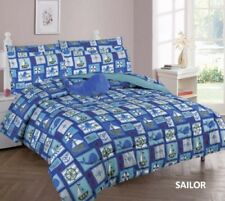 Limited Edition Sailor Whale Kids Boys Comforter And Sheet Set 8 Pcs Full