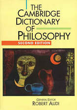 The Cambridge Dictionary of Philosophy, 0521637228, Very Good Book