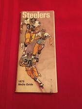 1975 NFL Pittsburgh Steelers media guide / Super Bowl X champs / Greene / Swann