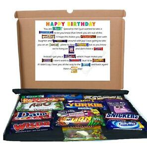 Happy Birthday Chocolate Gift Box Candy Poem Letterbox Sweets Treats